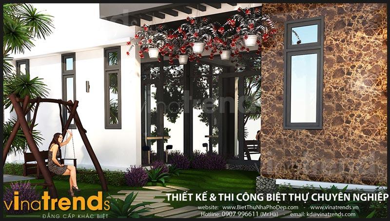 biet thu 2 tang hien dai 75m ngang 15m 50 khong gian xanh chi hy o dak lak 2 Chốt mẫu nhà đẹp 2 tầng mặt tiền 7,5x15m hơn 50% không gian xanh ở Dak Lak