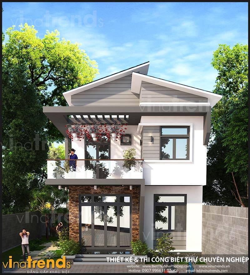 biet thu 2 tang hien dai 75m ngang 15m 50 khong gian xanh chi hy o dak lak dep nhat Chốt mẫu nhà đẹp 2 tầng mặt tiền 7,5x15m hơn 50% không gian xanh ở Dak Lak