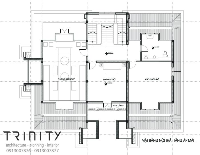 mat bang thiet ke biet thu 2 tang 3 Mẫu biệt thự 2 tầng  mái thái 17x15m đáng nghỉ dưỡng ở Yên Bái chinh phục anh Thịnh hoàn toàn