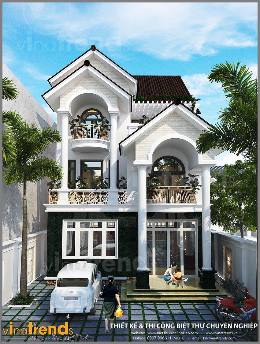 mau biet thu 3 tang tan co dien dep nhat Biệt thự 3 tầng tân cổ điển 180m2 đẹp đẳng cấp của chủ đầu tư tỉ mỉ từng cen ti met