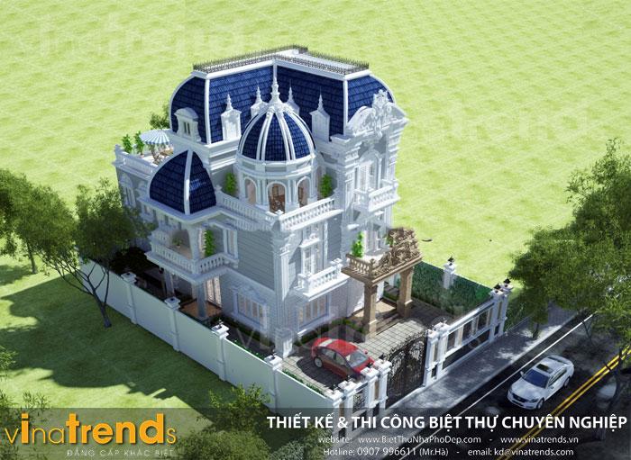 mau biet thu co dien dep nhat hien nay 50+ Mẫu nhà biệt thự sân vườn đẹp rộng hơn 200m2 trở lên do VinaTrends thực hiện