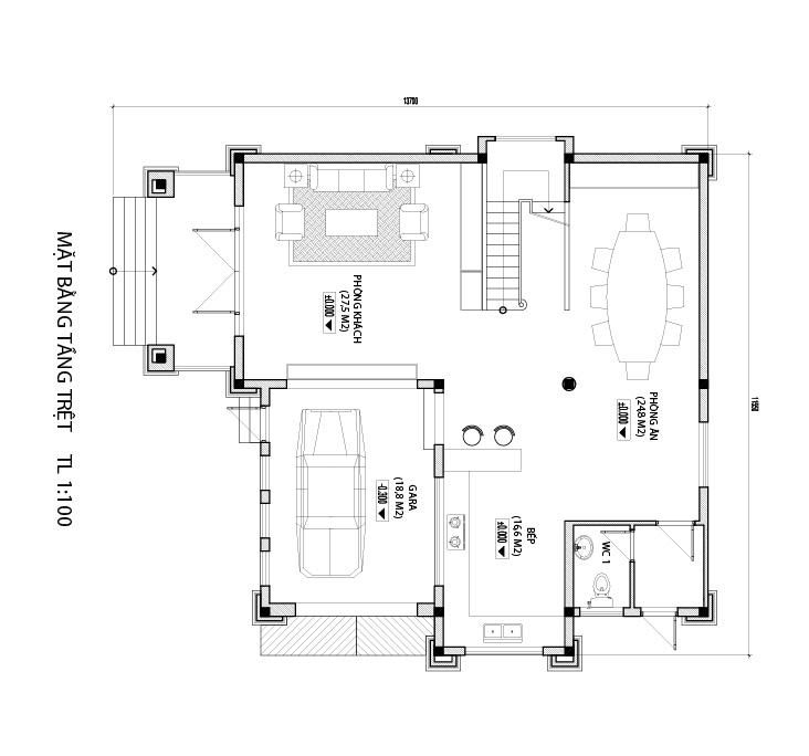 13 Biệt thự đẹp 3 tầng 161m2 xứng danh một thiết kế đẳng cấp   cả trăm năm hưởng thụ