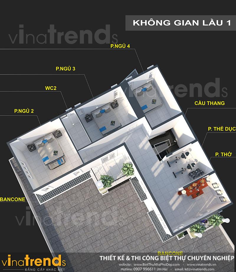 mau nha 2 tang chu l tang tret Mẫu nhà chữ L 2 tầng mái thái 270m2 chuẩn cung Phước Đức nhà chị Hạnh ở Bình Phước