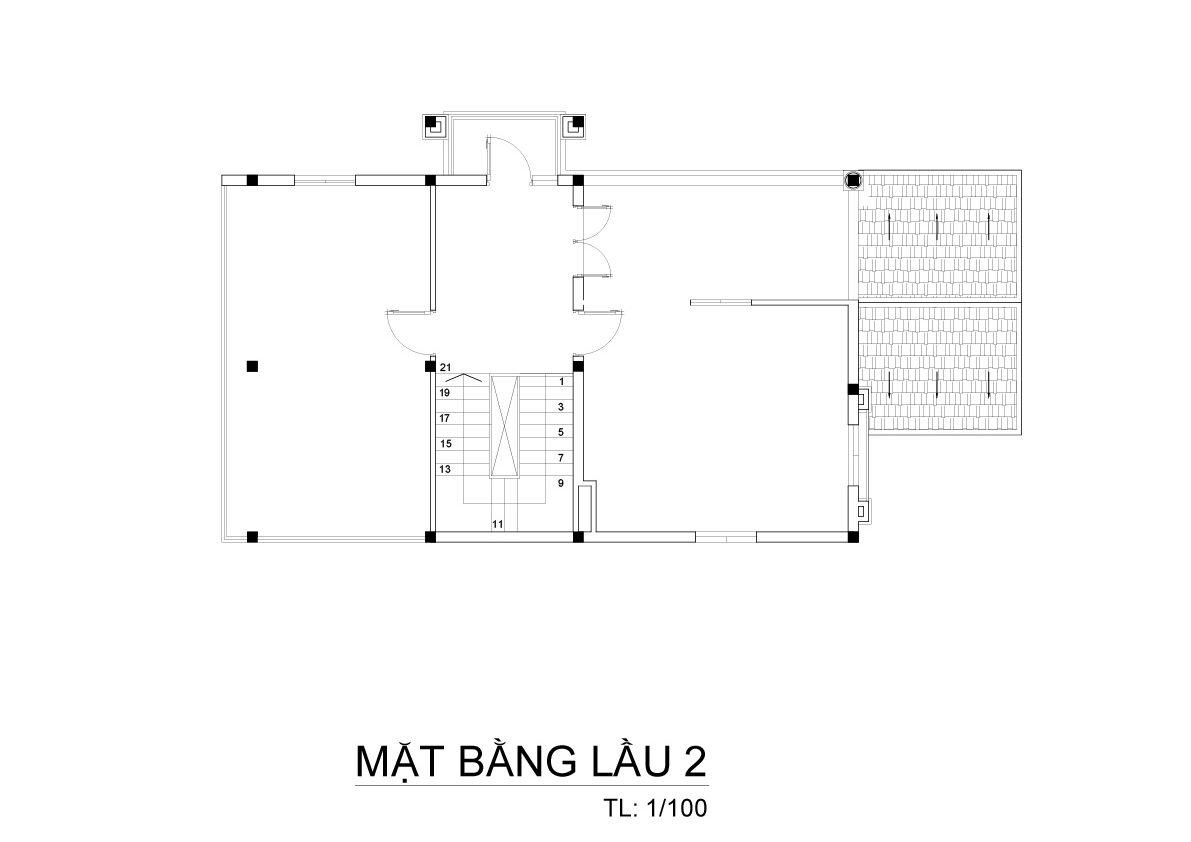 mat bang biet thu 3 tang mai thai co dien 4 e1500288842904 Mẫu biệt thự 3 tầng mái thái 7x12m có sân trước tuyệt đẹp như chính chị Hiếu ở Hà Nội