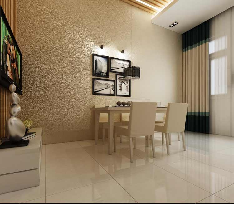 bep an khach Mẫu nhà 3 tầng hiện đại 6,6x17m dùng thủ pháp tối ưu vừa ở vừa kinh doanh ở Biên Hòa