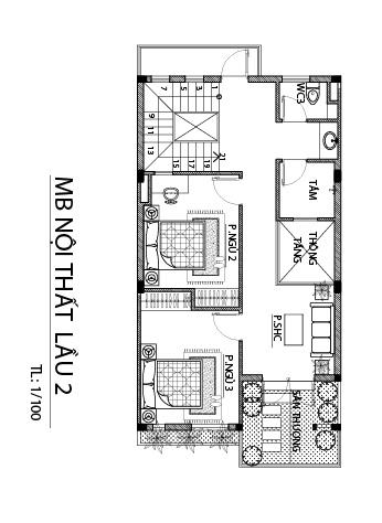 lau 2 Mẫu nhà 3 tầng hiện đại 6,6x17m dùng thủ pháp tối ưu vừa ở vừa kinh doanh ở Biên Hòa