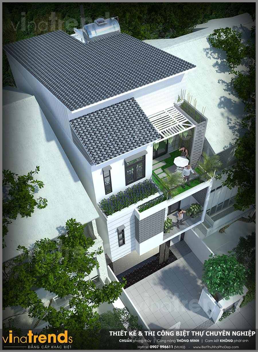 mau nha 3 tang hien dai vua o vua kinh doanh 66x17 2 Mẫu nhà 3 tầng hiện đại 6,6x17m dùng thủ pháp tối ưu vừa ở vừa kinh doanh ở Biên Hòa