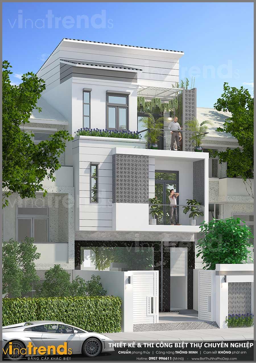 mau nha 3 tang hien dai vua o vua kinh doanh 66x17 3 Mẫu nhà 3 tầng hiện đại 6,6x17m dùng thủ pháp tối ưu vừa ở vừa kinh doanh ở Biên Hòa