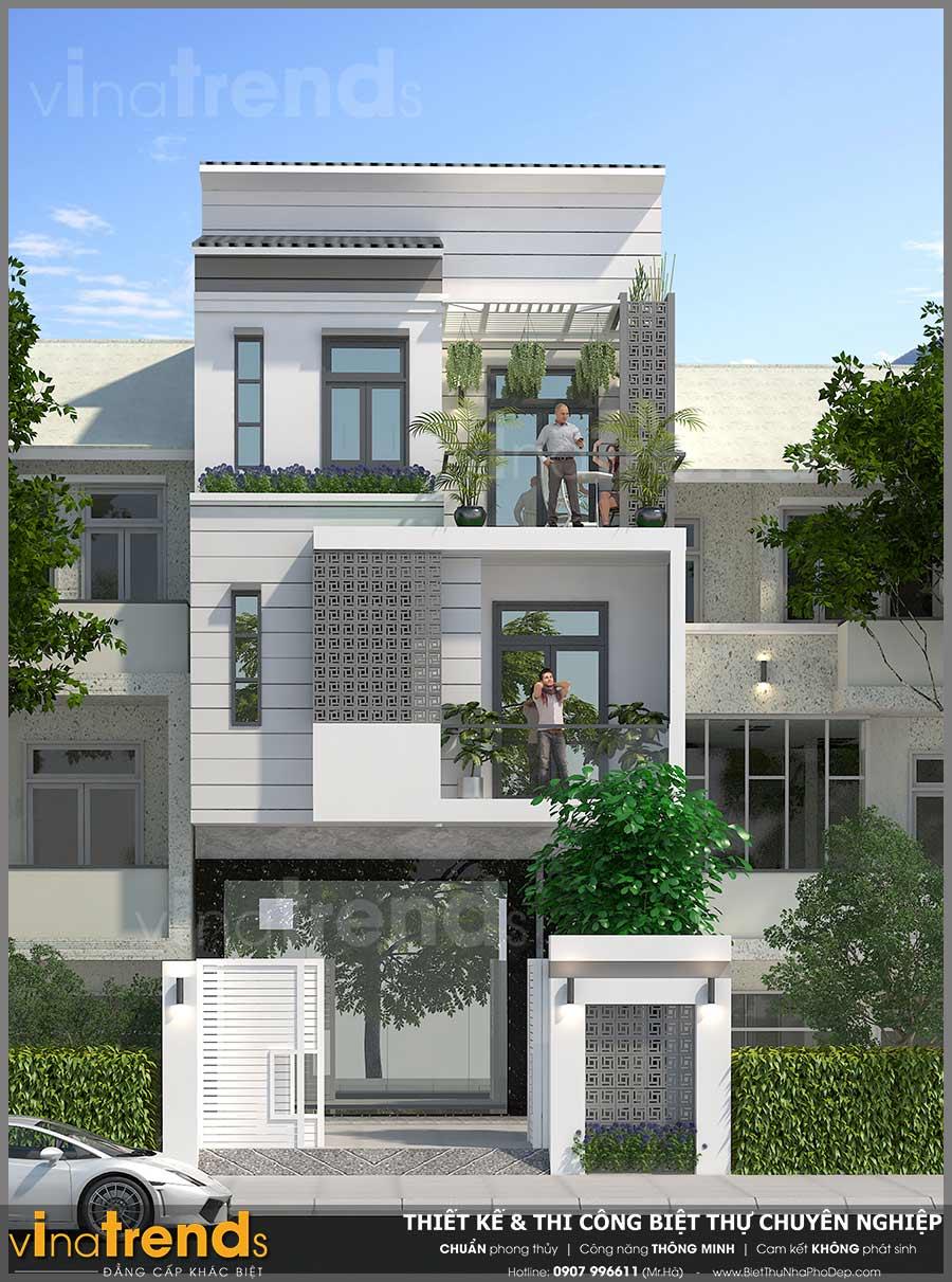 mau nha 3 tang hien dai vua o vua kinh doanh 66x17 4 Mẫu nhà 3 tầng hiện đại 6,6x17m dùng thủ pháp tối ưu vừa ở vừa kinh doanh ở Biên Hòa