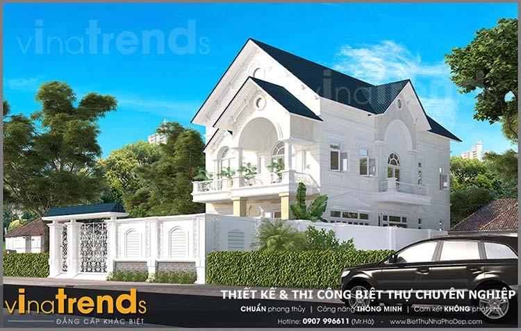 mau nha biet thu 2 tang tan co dien nha co bang vung tau 2 12 mẫu nhà biệt thự đẹp 1 2 3 tầng nếu bạn muốn xây đẹp nên xem nhiều lần