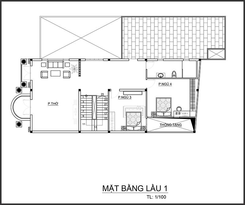 anhghel mblau1 Mẫu biệt thự 4 tầng mái thái 7,5x12m tân cổ điển của đại gia miền Tây tận dụng tầng áp mái nuôi yến