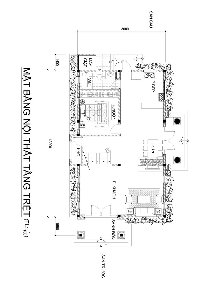 mat bang biet thu dep o bien hoa tang tret Biệt thự 2 tầng mái thái ngói 8x17m gói chìa khóa trao tay 1,6 tỷ ở Phước Tân Biên Hòa