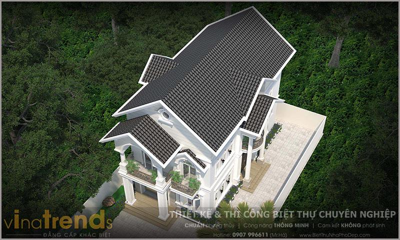 mau biet thu 2 tang mai thai co san vuon dep o bien hoa 4 Biệt thự 2 tầng mái thái ngói 8x17m gói chìa khóa trao tay 1,6 tỷ ở Phước Tân Biên Hòa