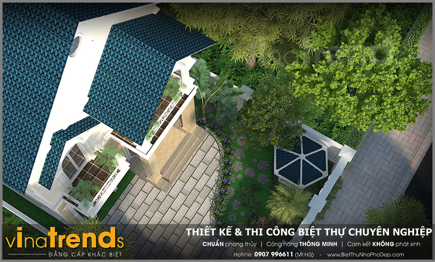 mau biet thu 2 tang mai thai tan co dien co san vuon 128m2 20+ mẫu nhà đẹp mái thái 1 2 3 tầng xiêu lòng chủ nhà đẳng cấp