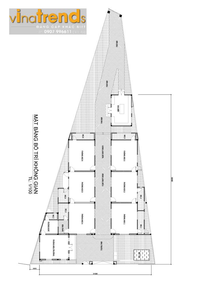 ban ve thiet ke cong nang ytuong mam non o trang dai Bản vẽ thiết kế trường mầm non 1 tầng 636m2 đáng để gởi con ở Trảng Dài Biên Hòa