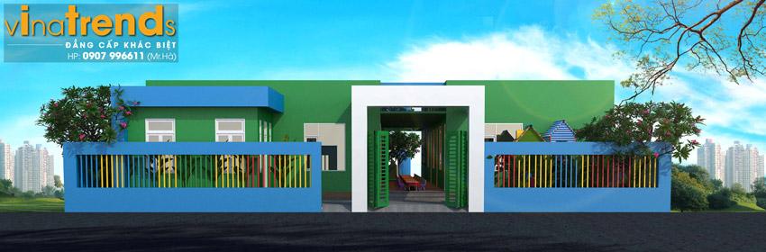 ban ve truong mam non dep Bản vẽ thiết kế trường mầm non 1 tầng 636m2 đáng để gởi con ở Trảng Dài Biên Hòa