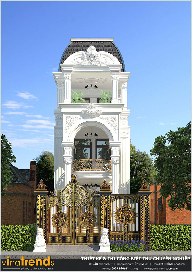 thiet ke nha dep 3 tang o tam hiep bien hao 12 mẫu nhà biệt thự đẹp 1 2 3 4 tầng ở Biên Hòa sẽ thi công năm 2018 – 2019