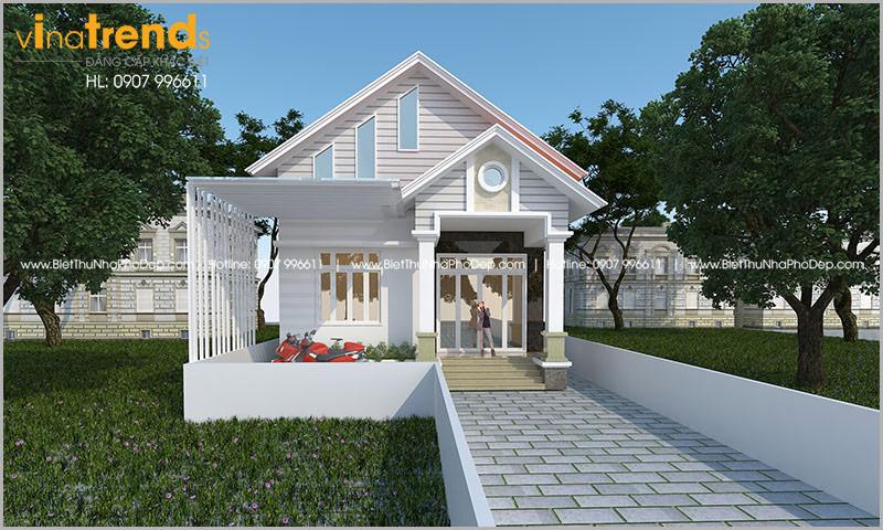 biet thu 1 tang mai thai cho nguoi hoa o bien hoa 2 Mẫu nhà 1 tầng 126m2 chi tiết thiết kế dể tích góp xây nhà ở Biên Hòa