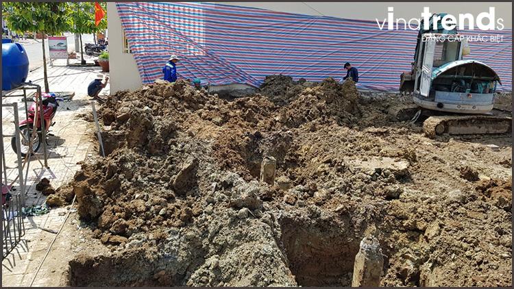 dao mong xay biet thu 2 tang o bien hoa thiết kế xây nhà đẹp biên hòa   đồng nai chuẩn thi công sát dự toán tại Vinatrends