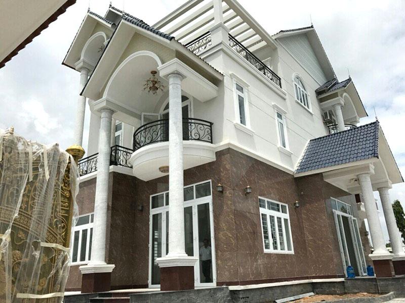 hinh anh thuc te sau khi hoan thien 1 12 mẫu nhà biệt thự đẹp 1 2 3 4 tầng ở Biên Hòa sẽ thi công năm 2018 – 2019