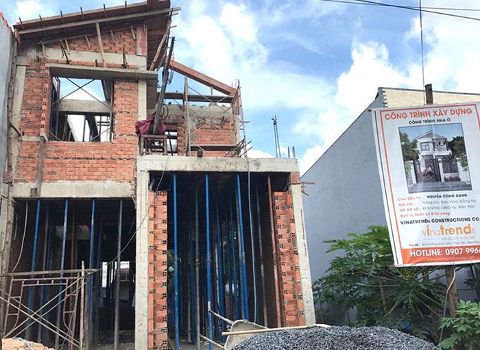 hinh thi cong vinatrends thiết kế xây nhà đẹp biên hòa   đồng nai chuẩn thi công sát dự toán tại Vinatrends