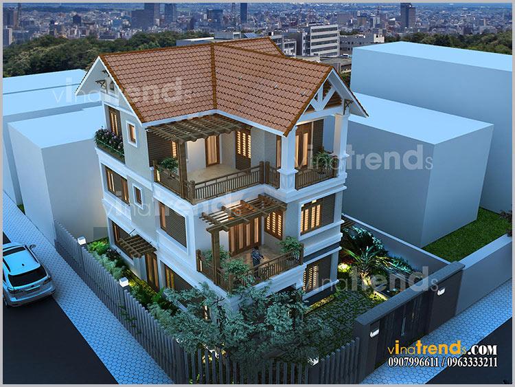 mau biet thu 3 tang dep mai ngoi 1 9 mẫu biệt thự đẹp Chuẩn Phong Thủy gây ấn tượng cho chủ đầu tư như thế nào?