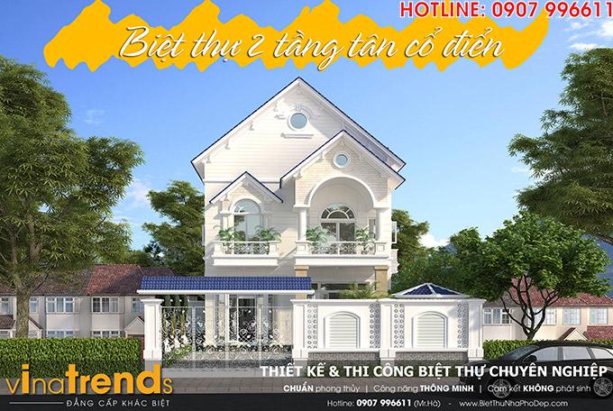 Biet thu 2 tang nha co Bang Vung Tau TOP 1 những mẫu biệt thự mái thái NỔI TIẾNG nhất Việt Nam