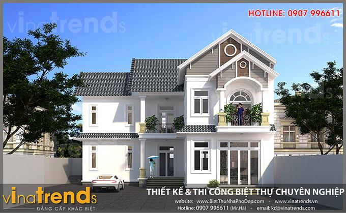 Biet thu dep 2 tang chu L chi Hanh Binh Phuoc Hóa giải phong thủy xây nhà 1986 Bính Dần năm 2021 2022 tốt nhất