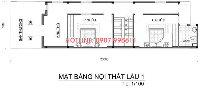 mat bang tang 1 nha 2 tang co gara o to Mẫu biệt thự 2 tầng đẹp Biên Hòa 200m2 có gara ô tô trong nhà và hồ cá hỏa tiễn