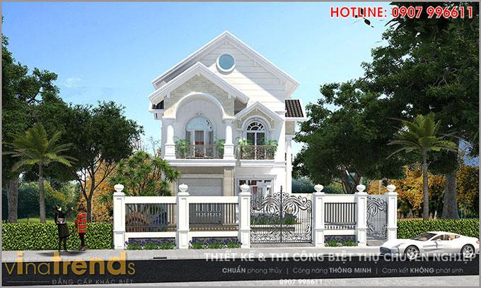 mau biet thu 2 tang mai thai co san vuon dep o bien hoa 1 12 mẫu nhà biệt thự đẹp 1 2 3 4 tầng ở Biên Hòa sẽ thi công năm 2018 – 2019
