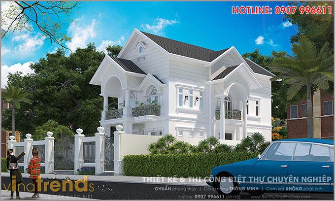 mau biet thu 2 tang mai thai co san vuon dep o bien hoa 2 12 mẫu nhà biệt thự đẹp 1 2 3 4 tầng ở Biên Hòa sẽ thi công năm 2018 – 2019