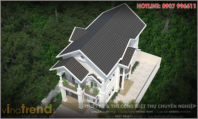 mau biet thu 2 tang mai thai co san vuon dep o bien hoa 4 12 mẫu nhà biệt thự đẹp 1 2 3 4 tầng ở Biên Hòa sẽ thi công năm 2018 – 2019