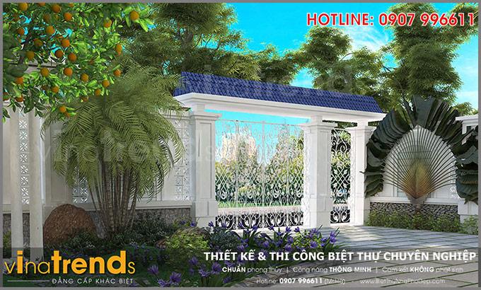 mau biet thu 2 tang mini san vuon co cong ngo dep TOP 1 những mẫu biệt thự mái thái NỔI TIẾNG nhất Việt Nam