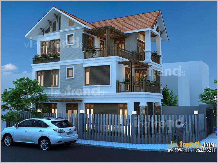 mau biet thu 3 tang dep mai ngoi 2 9 mẫu biệt thự đẹp Chuẩn Phong Thủy gây ấn tượng cho chủ đầu tư như thế nào?