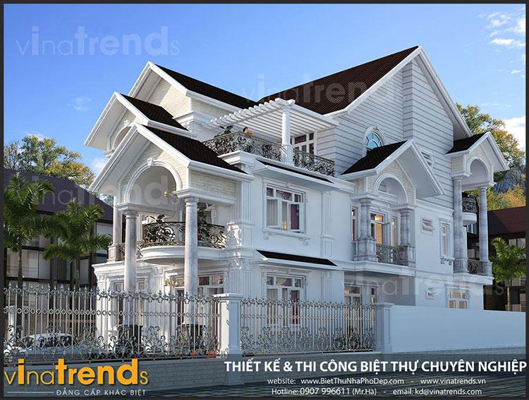 mau biet thu 3 tang mai thai dep nhat nam 2018 vinatrends thuc hien 1 1 9 mẫu biệt thự đẹp Chuẩn Phong Thủy gây ấn tượng cho chủ đầu tư như thế nào?