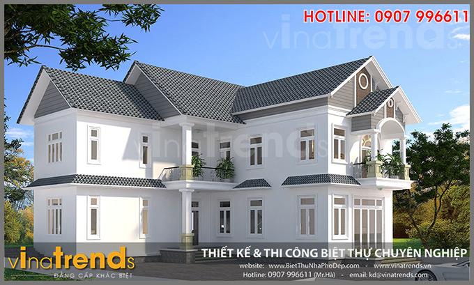 mau nha 2 tang mai thai chu L chi hanh binh phuoc TOP 1 những mẫu biệt thự mái thái NỔI TIẾNG nhất Việt Nam