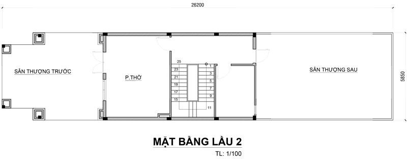 thiet ke mat bang biet thu co dien o bien hoa 1 Mẫu biệt thự cổ điển 3 tầng 150m2 ở Biên Hòa nhà anh Tại mê ngay 3D phối cảnh kiến trúc