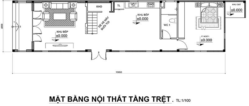 mau nha 2 tang bo tri cong nang sinh hoat 2 Mẫu nhà 2 tầng ở Biên Hòa  > 1 tỷ đầy đủ tiện nghi bao người muốn xây