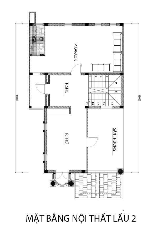 mat bang tang 2 biet thu dep o bien hoa.jpg Mẫu biệt thự 3 tầng mái thái 104m2 ở Biên Hòa gây dấu ấn công ty thiết kế nhà đẹp hàng đầu Đồng Nai