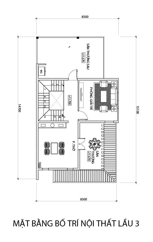 mat bang tang 3 nha 4 tang hien dai co gara oto o dien bien phu Mẫu nhà phố 4 tầng đẹp hiện đại 180m2 được Lăng Xê ở tỉnh Điện Biên