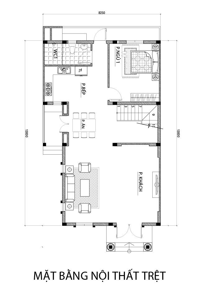 mat bang tang tret biet thu dep o bien hoa Mẫu biệt thự 3 tầng mái thái 104m2 ở Biên Hòa gây dấu ấn công ty thiết kế nhà đẹp hàng đầu Đồng Nai