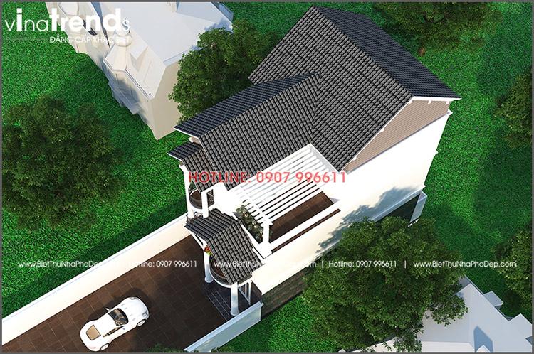 mau biet thu dep o bien hoa 3 tang 104m mai thai view tren xuong Mẫu biệt thự 3 tầng mái thái 104m2 ở Biên Hòa gây dấu ấn công ty thiết kế nhà đẹp hàng đầu Đồng Nai