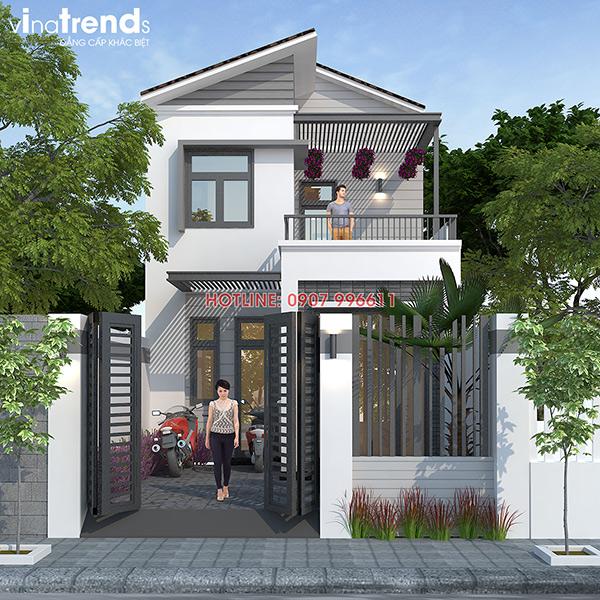 mau nha 2 tang dep duoc cho nhieu nhat do vinatrends thiet ke 3 Mẫu nhà 2 tầng đẹp giải đáp Bài Toán Kinh Tế Tối Ưu nhất cho gia đình Việt