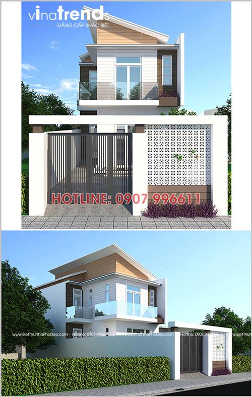 mau nha 2 tang hien dai o bien hoa nha a Luan vinatrends thiet ke thi cong Tại sao 12 mẫu nhà đẹp ở Biên Hòa hấp dẫn chủ nhà đến vậy?