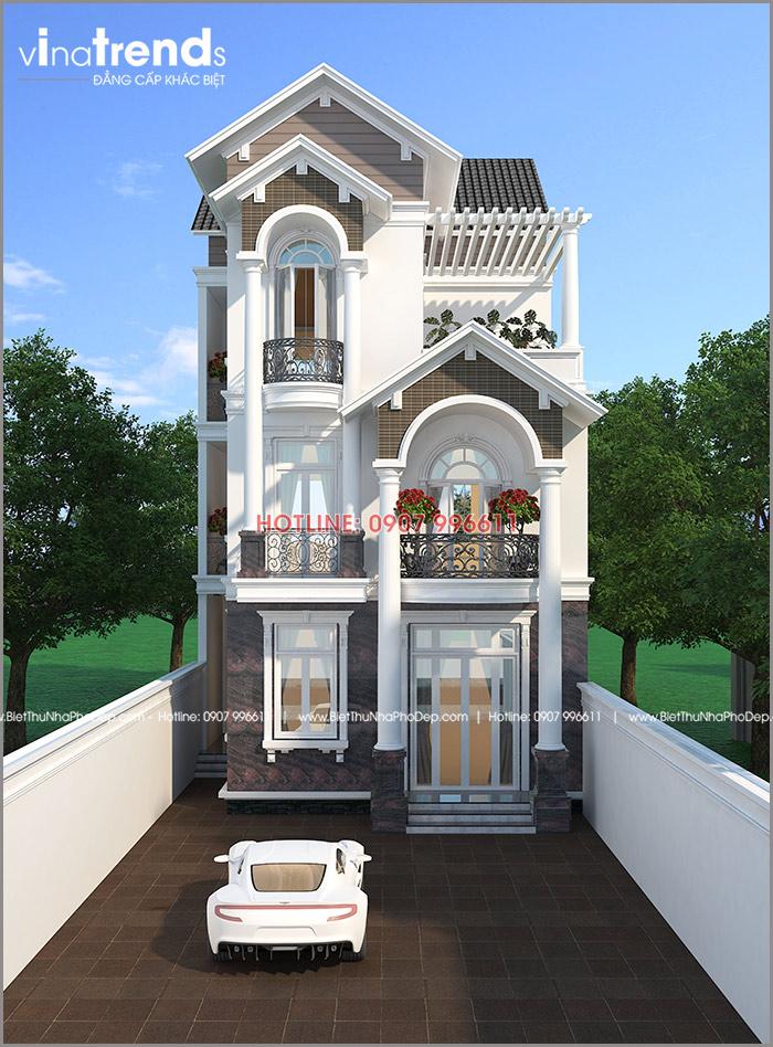 mau nha dep o bien hoa vinatrends thiet ke Mẫu biệt thự 3 tầng mái thái 104m2 ở Biên Hòa gây dấu ấn công ty thiết kế nhà đẹp hàng đầu Đồng Nai
