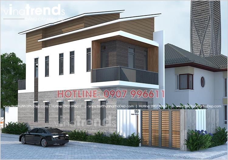 mau nha 2 tang bien hoa 75m2 dep  Mẫu nhà 2 tầng 5x15m ở Biên Hòa có 3 phòng ngủ cho chủ nhà trung niên 48 tuổi