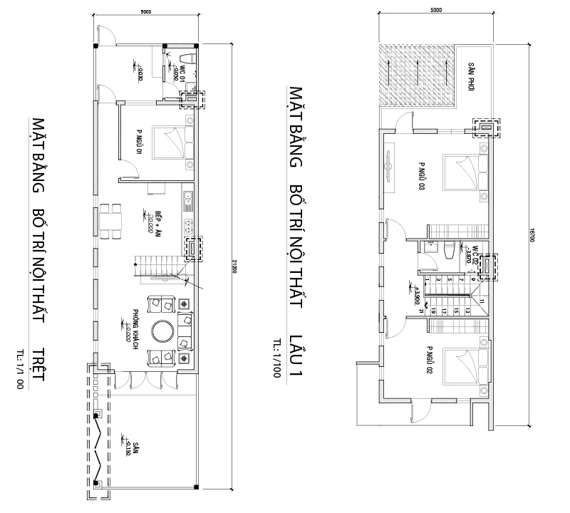 mb nha 2 tang hien dai o bien hoa Mẫu nhà 2 tầng 5x15m ở Biên Hòa có 3 phòng ngủ cho chủ nhà trung niên 48 tuổi
