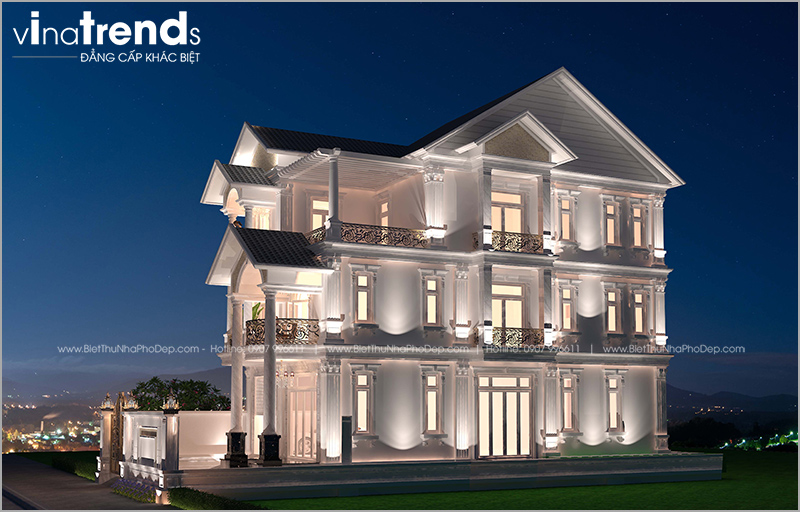 biet thu tan co dien 3 tang mai thai dep mat tien 8m 12 mẫu nhà biệt thự đẹp 1 2 3 4 tầng ở Biên Hòa sẽ thi công năm 2018 – 2019