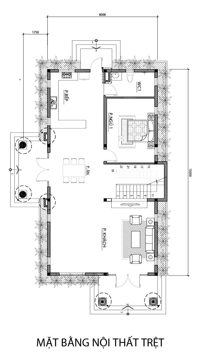 mat bang tang tret biet thu 2 tang mai thai mẫu biệt thự 2 tầng mái thái làm bà hoàng trên mảnh đất hơn 1000m2 ở Bình Thuận