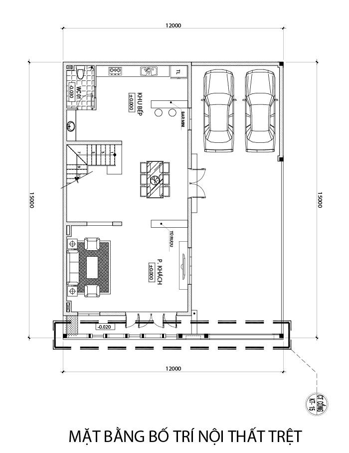 mat bang tang tret nha 3 tang hien dai co gara oto Mẫu nhà biệt thự 4 tầng hiện đại mặt tiền 7m dùng kỹ xảo Lùa Gió vào nhà không cần điều hòa